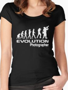 Evolution Of A Photographer Women's Fitted Scoop T-Shirt