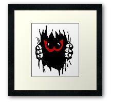 Monster peekaboo, peek-a-boo play Framed Print