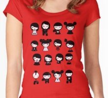 Chibi Emo Goth Women's Fitted Scoop T-Shirt