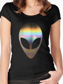 90'S Grunge ACID Lo Fi Alien Space Hipster Peace Women's Fitted Scoop T-Shirt