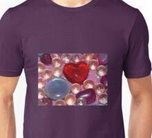 Red Glass Heart Unisex T-Shirt