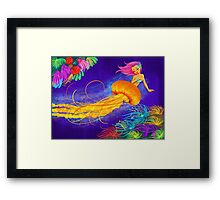 Jellyfish Mermaid! Framed Print