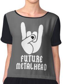 Heavy Metal Chiffon Top