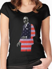 Kanye West for president Women's Fitted Scoop T-Shirt