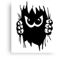 Monster peekaboo, peek-a-boo play 2 Canvas Print
