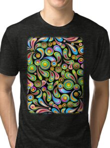 Drops Psychedelic Abstract Pattern   Tri-blend T-Shirt