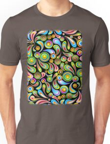 Drops Psychedelic Abstract Pattern   Unisex T-Shirt