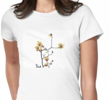 Saucer Magnolia  Womens Fitted T-Shirt