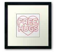 Free Hugs Cute Simple Design Love Framed Print