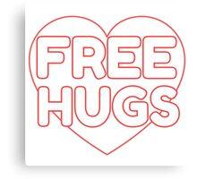 Free Hugs Cute Simple Design Love Canvas Print