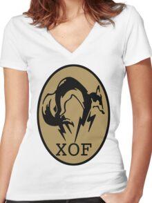 Metal Gear XOF Unit Art Women's Fitted V-Neck T-Shirt