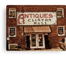 """""""Antiques, Clinton Mall, #1""""... prints and products Canvas Print"""