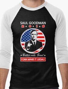 Saul Goodman for President - 2016 Men's Baseball ¾ T-Shirt