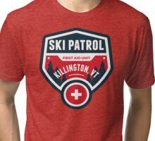KILLINGTON VERMONT Skiing Ski Patrol Mountain Art Tri-blend T-Shirt