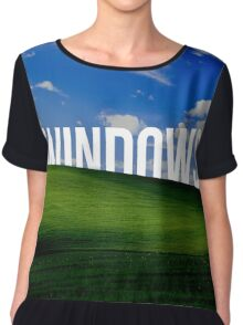 WINDOWS - Background Chiffon Top