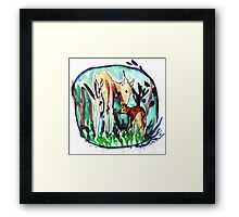 In the forest of dream Framed Print
