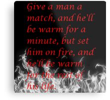 Witty Quote Metal Print