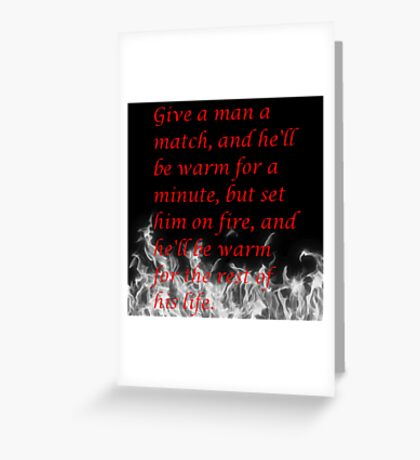Witty Quote Greeting Card