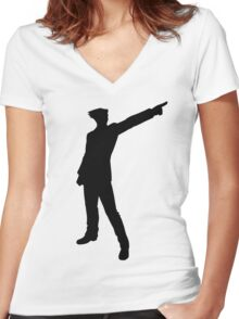 The Ace Attorney Women's Fitted V-Neck T-Shirt