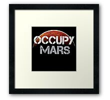 Occupy Mars - Tshirt  Framed Print