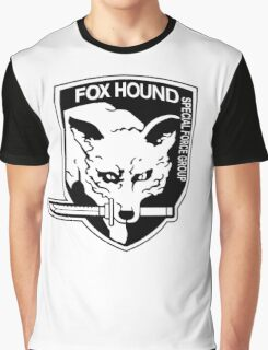 FOX HOUND Art Graphic T-Shirt