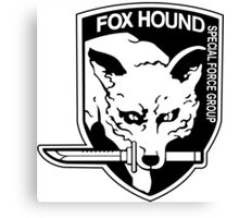 FOX HOUND Art Canvas Print