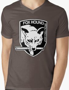 FOX HOUND Art Mens V-Neck T-Shirt