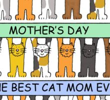 Happy Mother's Day to best cat Mom ever Sticker