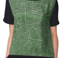 LONDON MAP, GREEN Chiffon Top