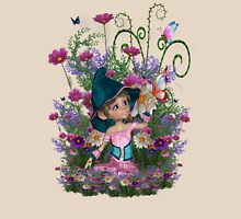 Fairy garden Womens Fitted T-Shirt