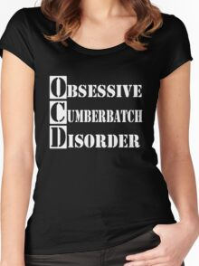 Obsessive Cumberbatch Disorder Women's Fitted Scoop T-Shirt