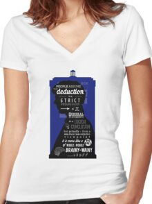 Wholock - A Study in Deduction Women's Fitted V-Neck T-Shirt