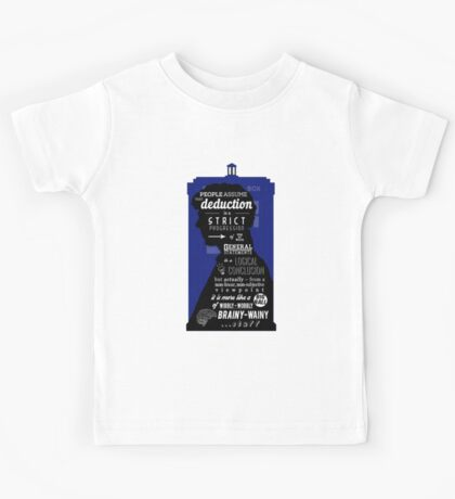 Wholock - A Study in Deduction Kids Tee