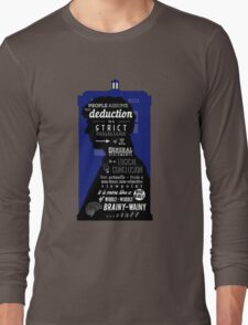 Wholock - A Study in Deduction Long Sleeve T-Shirt