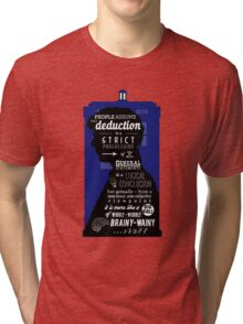 Wholock - A Study in Deduction Tri-blend T-Shirt