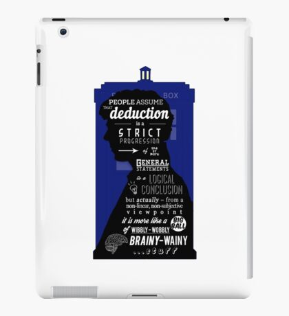 Wholock - A Study in Deduction iPad Case/Skin