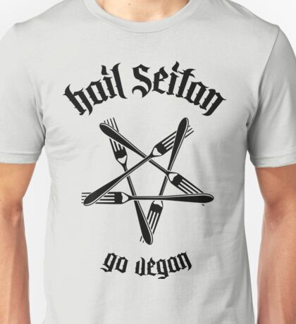Hail Seitan - Go vegan No.1.1 (black)	 Unisex T-Shirt