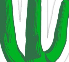 cactus, desert big design green cool Sticker