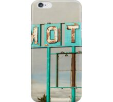 American Retro Motel Sign iPhone Case/Skin