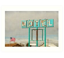 American Retro Motel Sign Art Print