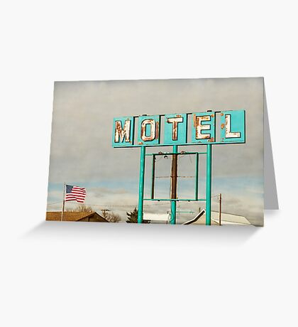 American Retro Motel Sign Greeting Card