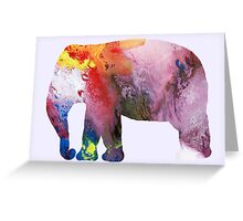Elephant silhouette Greeting Card