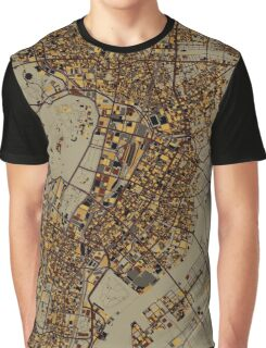 Industrial Tokyo Map Graphic T-Shirt