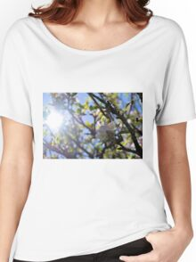 Spring Buzz - sun silhouette flowers and bee Women's Relaxed Fit T-Shirt