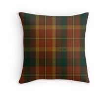 00347 Monaghan County District Tartan Throw Pillow