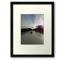 top of the narrowboat Framed Print