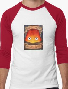 Howl's Moving Castle Illustration - CALCIFER (original)  Men's Baseball ¾ T-Shirt