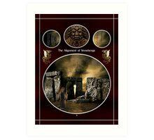 Alignment of Stonehenge by Mystics Art Print