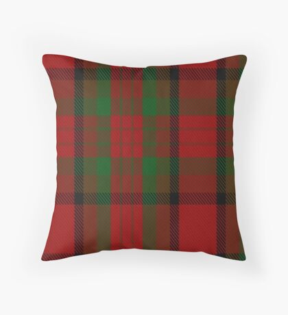 00356 Tipperary County District Tartan  Throw Pillow