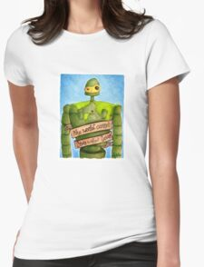Laputa: Castle In The Sky Illustration - ROBOT Womens Fitted T-Shirt